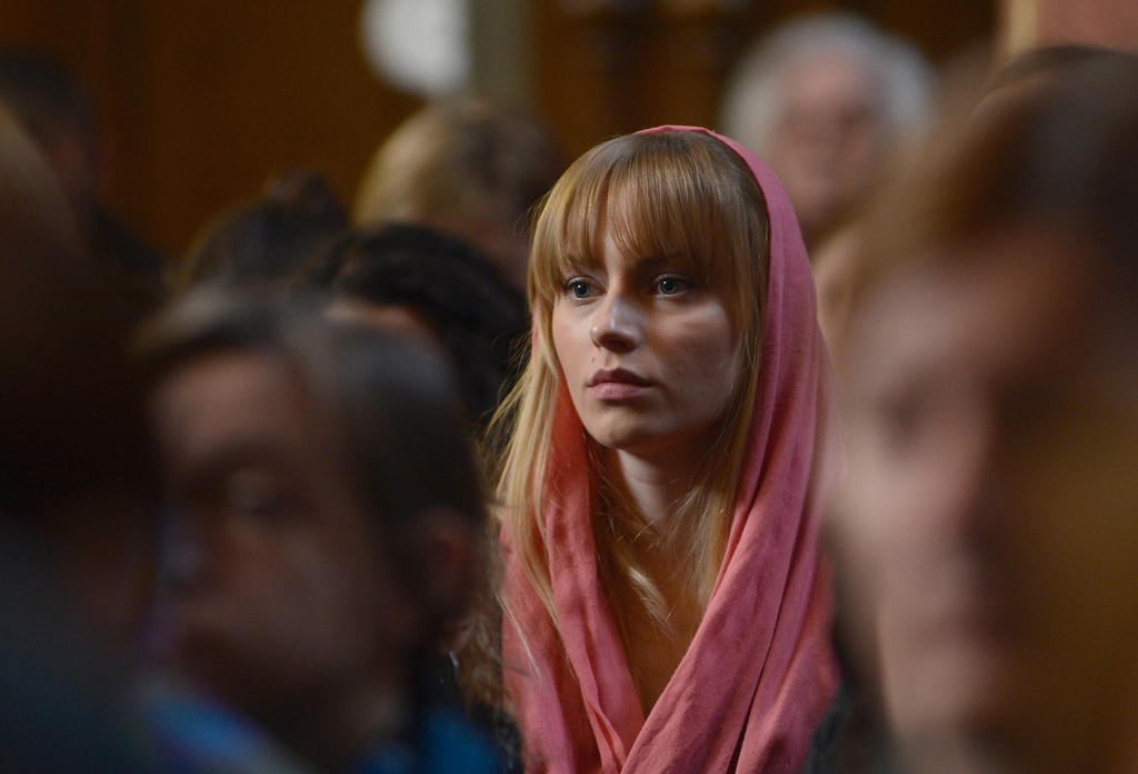. A Bosnian Serb woman attends the liturgy on Orthodox Easter Sunday, April 20, 2014, in the Orthodox Church in Banja Luka, 200 kms west of Sarajevo. Bosnian Serbs celebrate Orthodox Easter according to the Julian calendar. (AP Photo/Radivoje Pavicic)