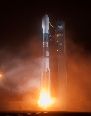 ULA Delta II with Orbiting Carbon Observatory-2 (OCO-2) Launches from Vandenberg AFB. CA. 07-02-2014