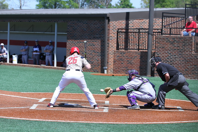 #26 Patrick Graham steps up to bat. Gardner-Webb Baseball took on High Point in the last of a three game series.