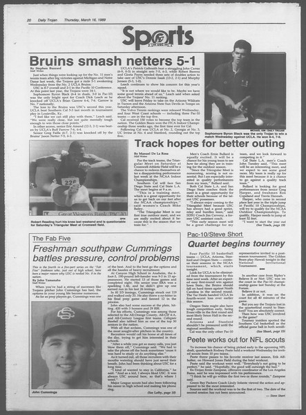 Daily Trojan, Vol. 108, No. 43, March 16, 1989