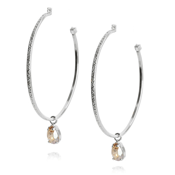 Loop Earrings / Silk / Rhodium