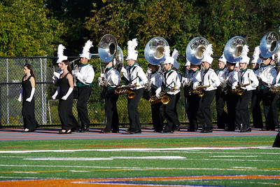 NMHS Band and Guard at Danbury, September 15, 2012