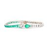 Art Deco Old European Cut Diamond and Emerald Bracelet 0