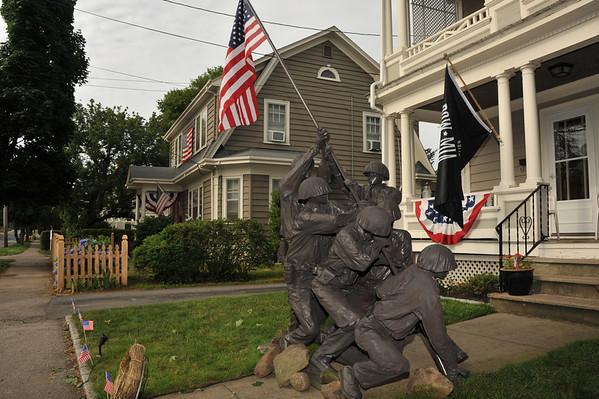 7-4-13 Home made Iwo Jima Monument