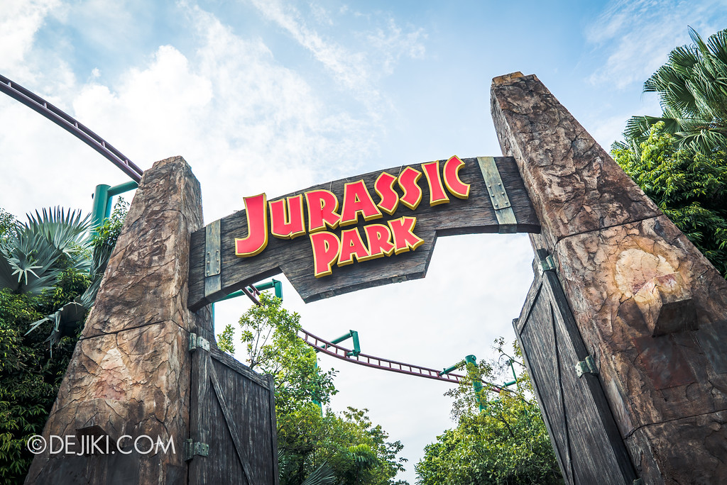 Universal Studios Singapore Park Update - Jurassic World Explore and Roar at Jurassic Park zone gate