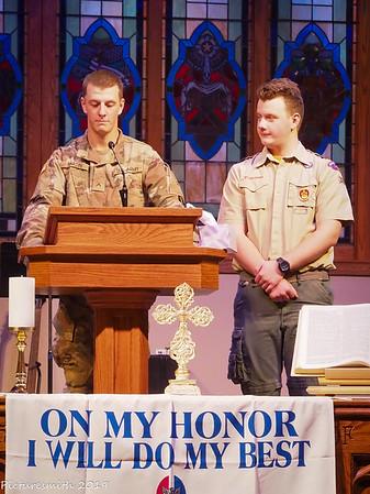 Devin's Eagle Ceremony