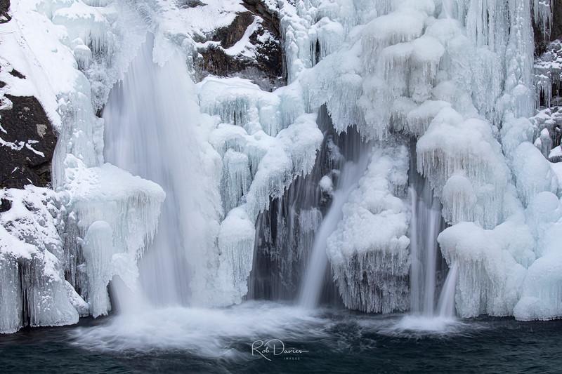 Bash Bish Falls up Close and Frozen
