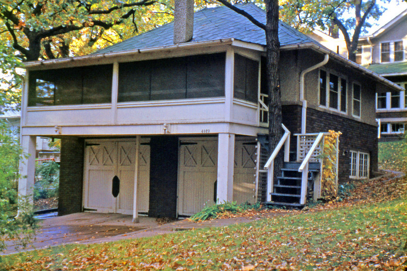 1959, September. Our first post-Air Force home, a carriage house at 4929 Waterbury Road, Des Moines, Iowa.