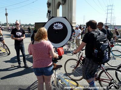 Get your photo taken on the bridge - CicLAvia 2011 - Los Angeles, CA - October 9, 2011