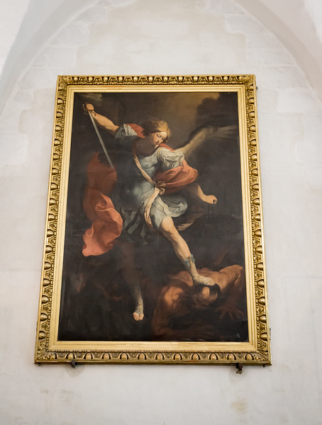 """Archangel Michael"" - Guido Reni - c. 1636.  The original is in Rome."