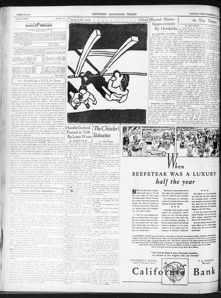 Daily Trojan, Vol. 23, No. 49, November 20, 1931
