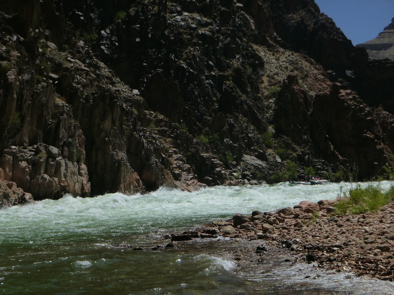 sister raft just ready to drop into the rapid.