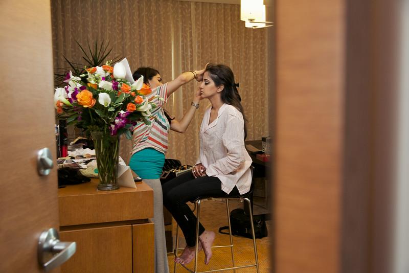 Le Cape Weddings - Indian Wedding - Day 4 - Megan and Karthik Bride Getting Ready 1.jpg