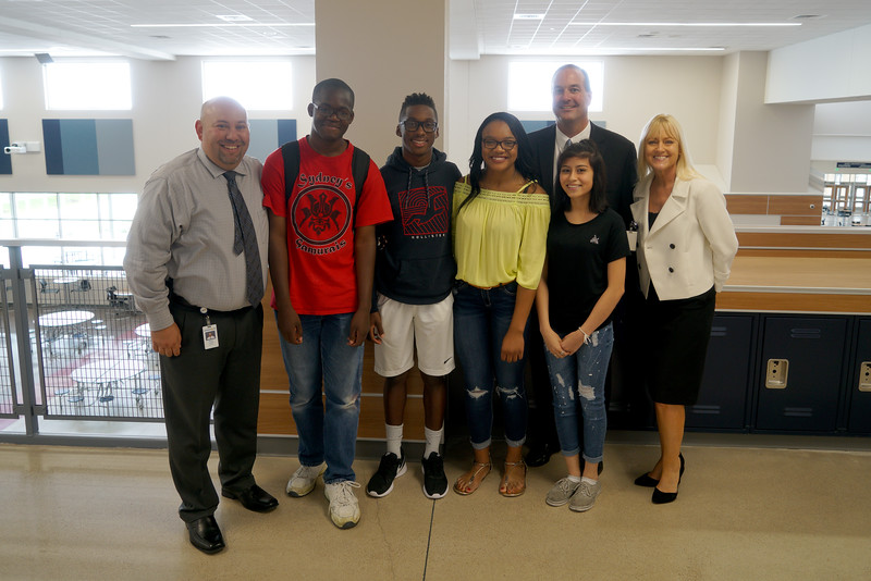 LISD's new superintendent, Dr. Dan Troxell, toured Glenn High School Monday, Aug. 29, during his first week on the job.