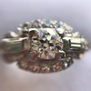 1.18ctw Art Deco Princess Halo Ring 41