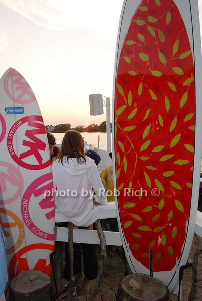 Michael Kor's surfboard, Ross Bleckner's surfboard