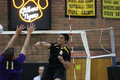 2014 Gilbert Boys Volleyball vs Queen Creek 3/6/14