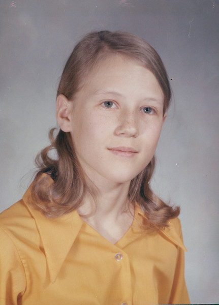 1971 - Jan.  Vivian 12.5 yrs old.  7th Grade - Mrs Lewis - Teacher.