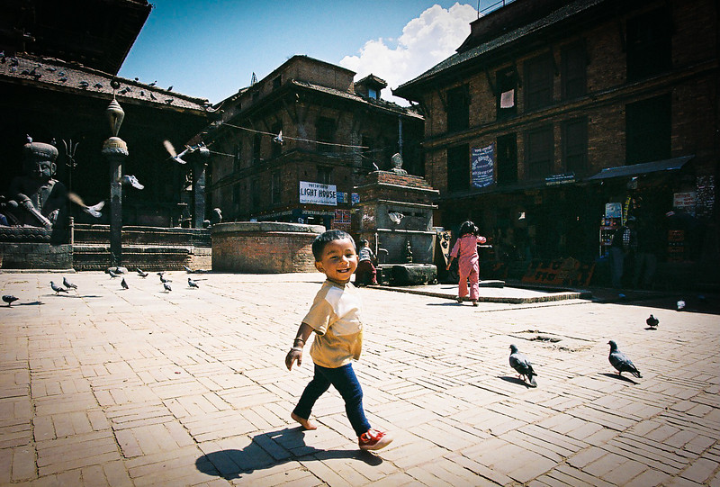 Child in Dattatraya Square, Bhaktapur