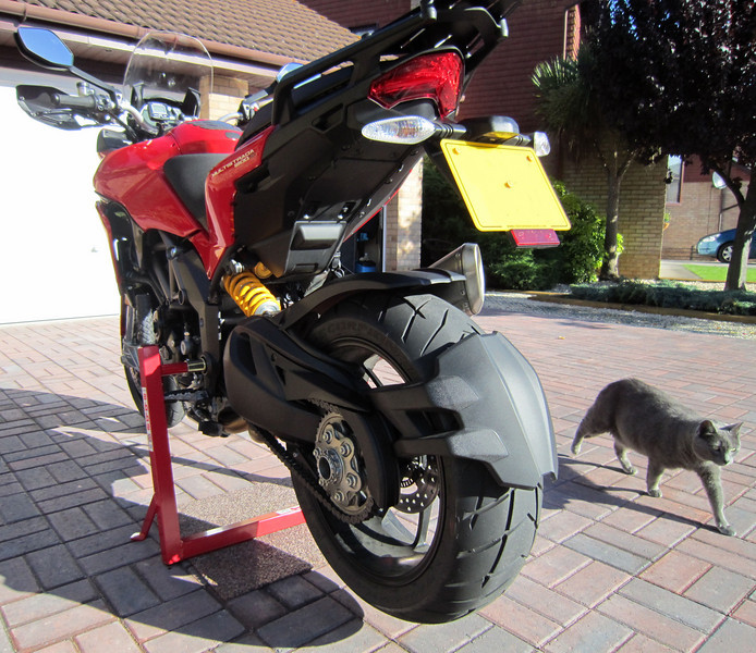 6/6: Abba Motorcycle Stand (better alternative to paddock stands!;-) with fitting kit for the Multistrada 1200