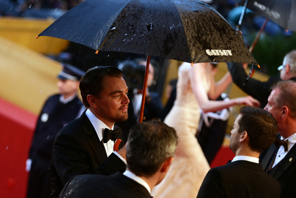 . Leonardo DiCaprio attends the Opening Ceremony and \'The Great Gatsby\' Premiere during the 66th Annual Cannes Film Festival at the Theatre Lumiere on May 15, 2013 in Cannes, France.  (Photo by Vittorio Zunino Celotto/Getty Images)