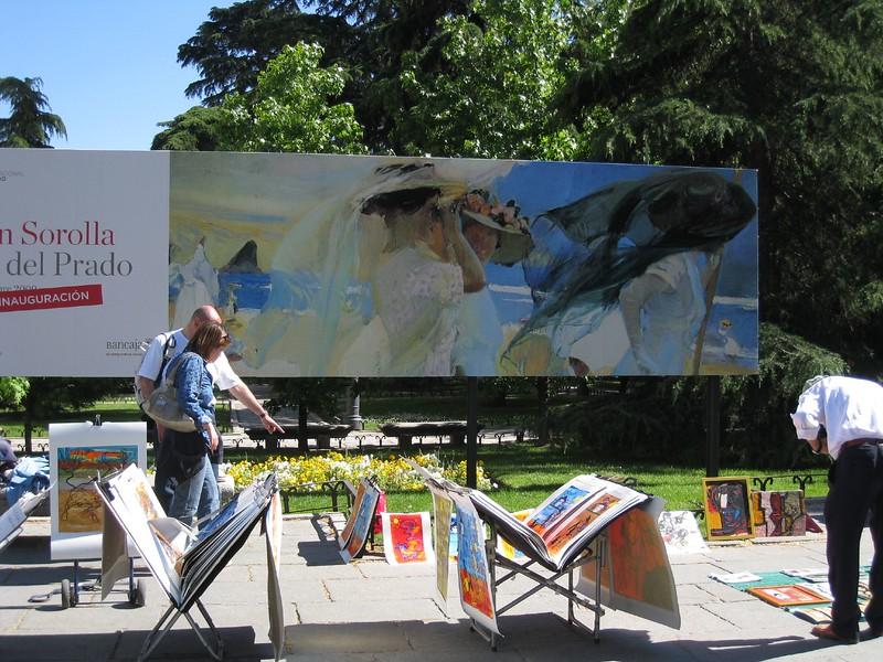 Prado Musuem artwork vendor