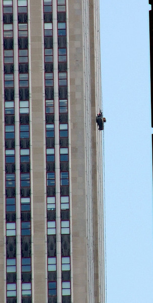 Not a job I'd fancy - cleaning windows on the ESB