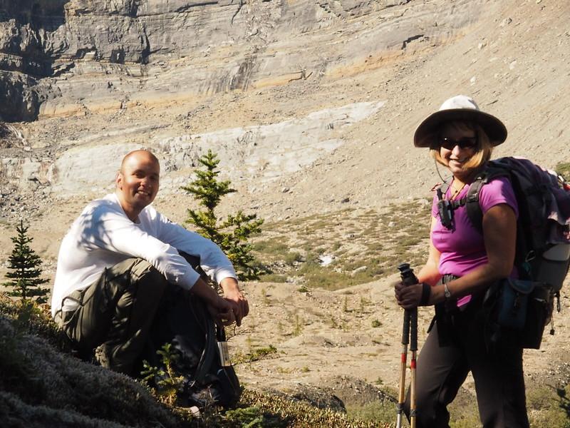 Two hiking comrades.