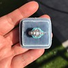 2.23ct Art Deco Emerald Cut and Turquoise Halo Ring 26