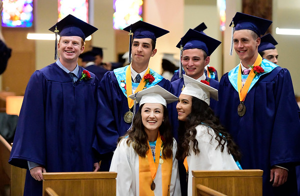6/4/2019 Mike Orazzi | Staff St. Paul grads during commencement exercises at the Cathedral of Saint Joseph in Hartford Tuesday evening.