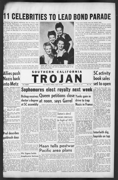 The Trojan, Vol. 35, No. 161, September 08, 1944