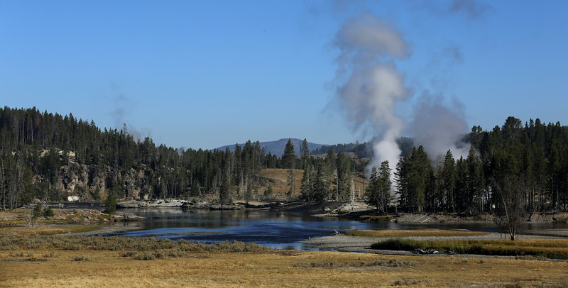 Approaching geothermal area