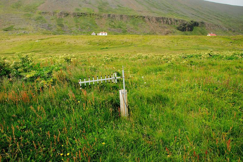 Stundum þarf ekki að fara hátt til að finna GSM merki.
