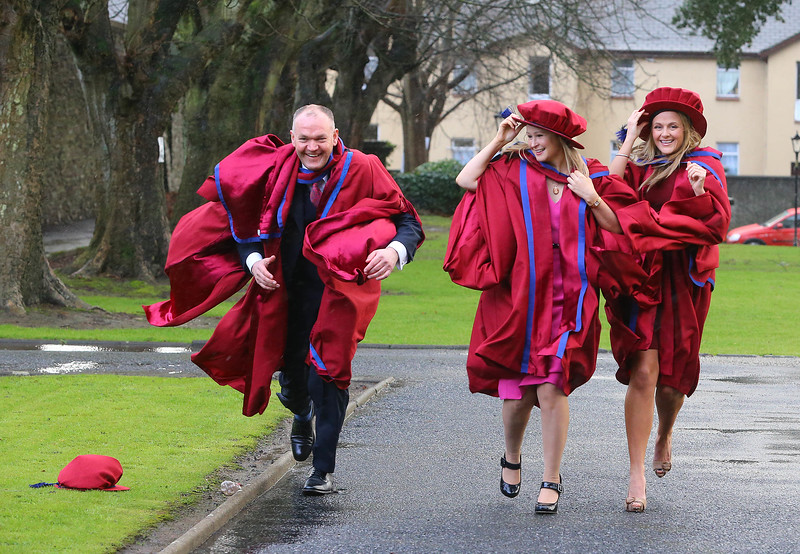 Waterford Institute Of Technology Conferring. Pictured at WIT Waterford Institute Of Technology Conferring isPhil Brennan, Waterford,  Jill O'Mahoney, Waterford, Geraldine Cleere, Waterford, who were conferred a Doctor of Philosophy. Picture: Patrick Browne