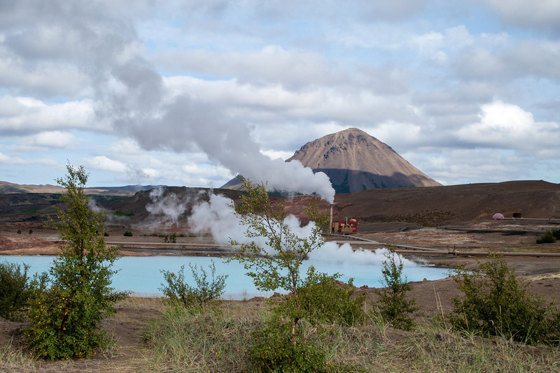 The next day, we were not exactly sure what we wanted to do, but decided to go to the Krafla volcanic area and figure out where the steam was coming from.  The first source of steam was this small geothermal power plant