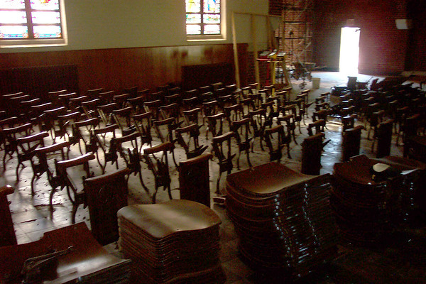Chapel Chairs Removed