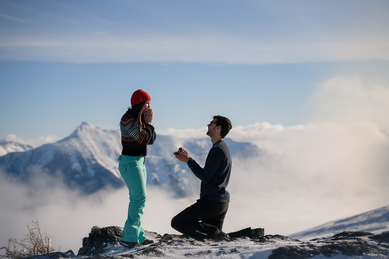 Virginia & Evan - Mountain top proposal