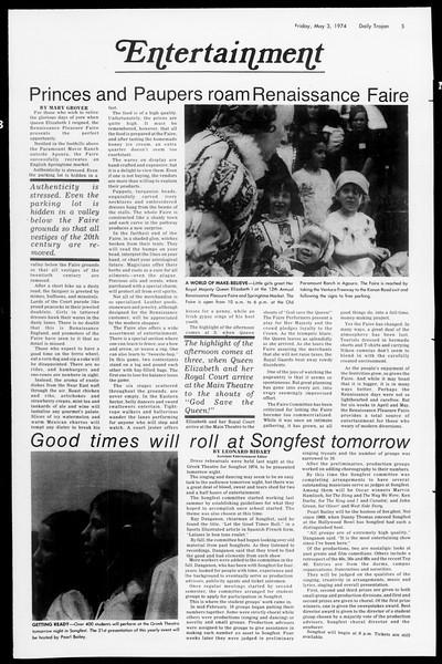 Daily Trojan, Vol. 66, No. 119, May 03, 1974