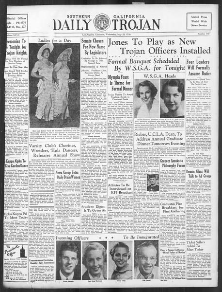 Daily Trojan, Vol. 27, No. 140, May 20, 1936