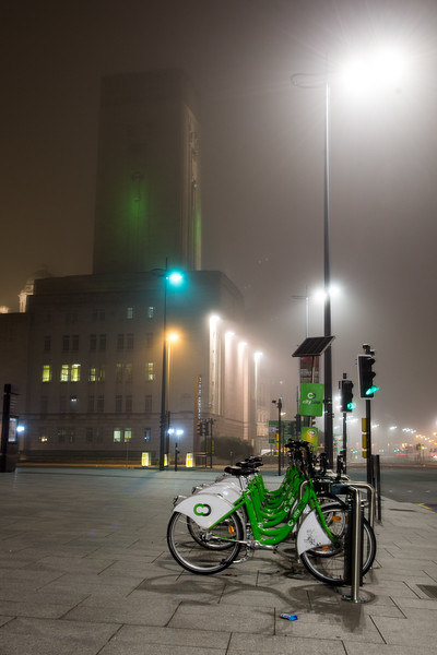 Liverpool Citybike scheme at Pier Head