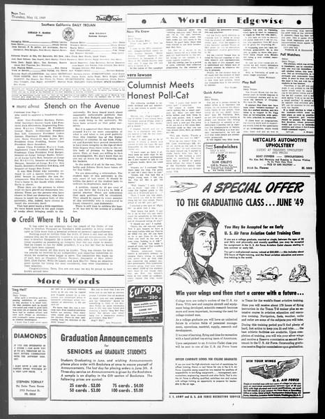 Daily Trojan, Vol. 40, No. 138, May 12, 1949