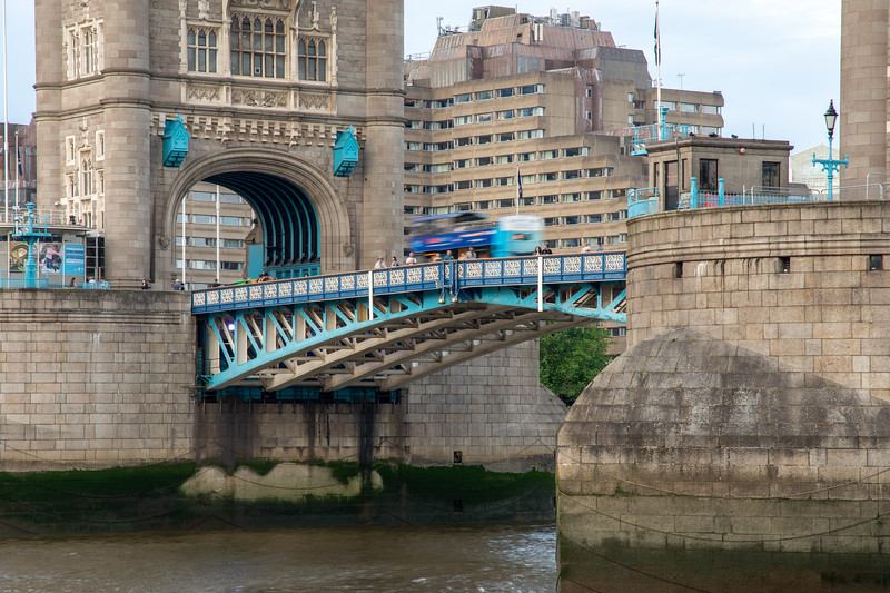 Bus crossing Tower Bridge