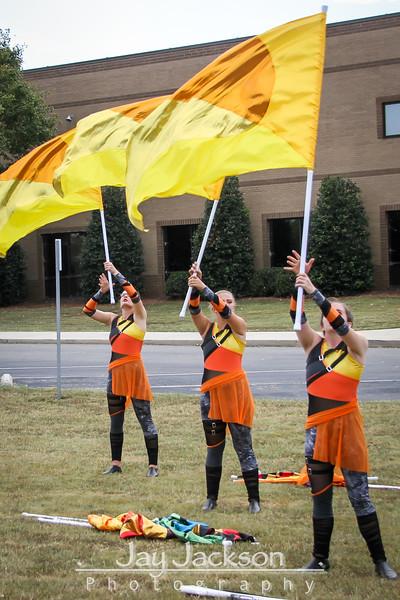 2019 09 28 Competition - Mount Pleasant - Color Guard Warm-Up