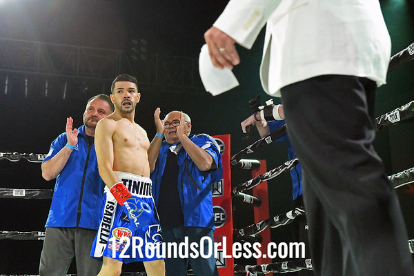 Bout #11:   Antonio Nieves (Red Wrist Wraps)   vs  Jose Alfredo Rodriguez (Blue Wrist Wraps), 118 Lbs., 8 Rounds