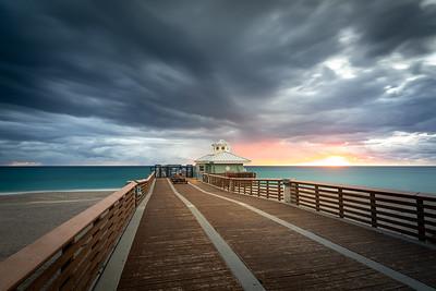 Dramatic Clouds at Juno Beach Pier