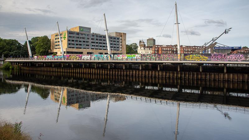 Taff walkway in Cardiff