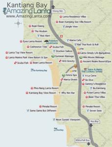 Kantiang Bay Map