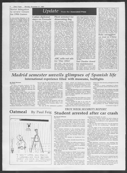 Daily Trojan, Vol. 94, No. 54, November 21, 1983