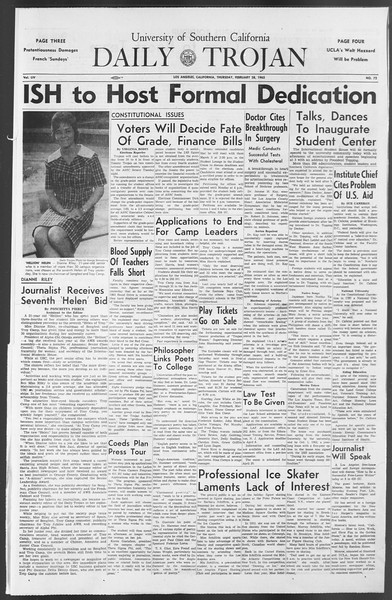 Daily Trojan, Vol. 54, No. 72, February 28, 1963