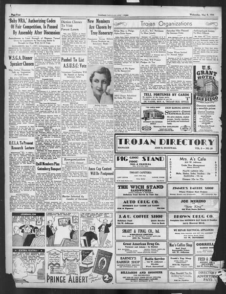 Daily Trojan, Vol. 26, No. 132, May 08, 1935